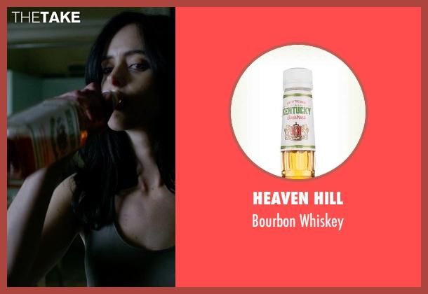Heaven Hill whiskey from Jessica Jones seen with Jessica Jones (Krysten Ritter)