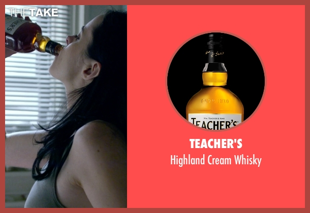 Teacher's whisky from Jessica Jones seen with Jessica Jones (Krysten Ritter)