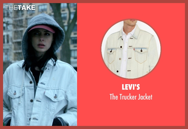 Levi's white jacket from Jessica Jones seen with Jessica Jones (Krysten Ritter)