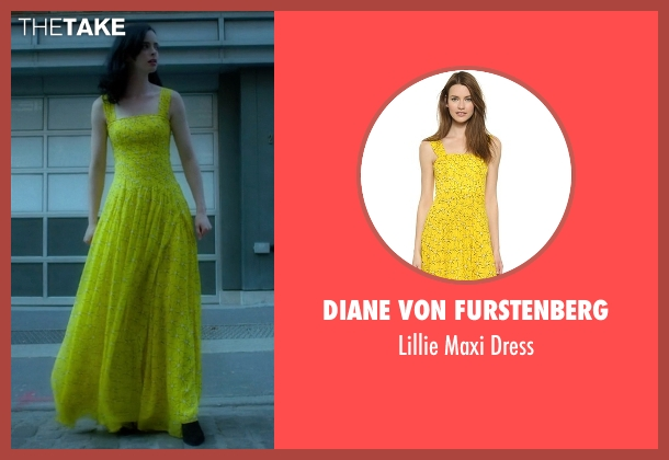 Diane Von Furstenberg yellow dress from Jessica Jones seen with Jessica Jones (Krysten Ritter)