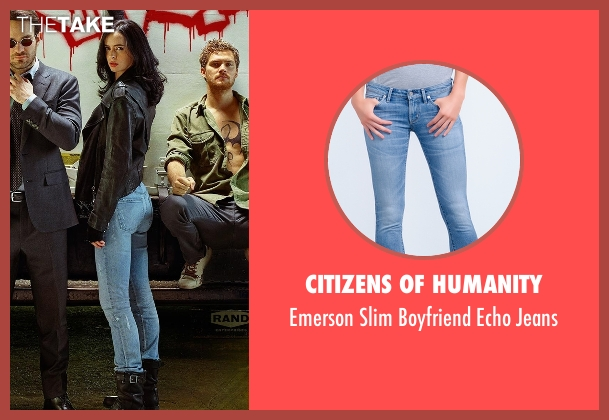 Citizens Of Humanity blue jeans from Marvel's The Defenders seen with Jessica Jones (Krysten Ritter)