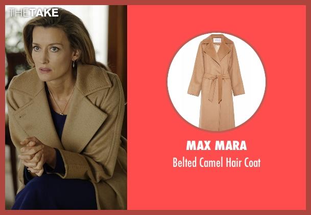 Max Mara beige coat from Designated Survivor seen with Jessica Kirkman (Natascha McElhone)