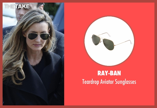 Ray-Ban black sunglasses from Designated Survivor seen with Jessica Kirkman (Natascha McElhone)