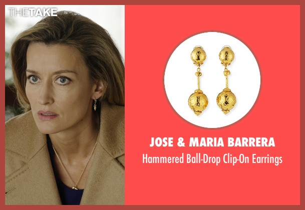 Jose & Maria Barrera gold earrings from Designated Survivor seen with Jessica Kirkman (Natascha McElhone)