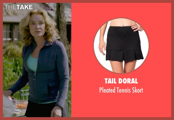 Tail Doral black skort from The Gambler seen with Jessica Lange (Roberta)