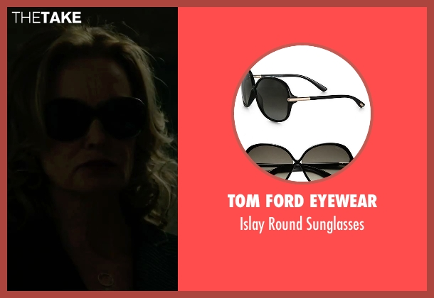 Tom Ford Eyewear black sunglasses from The Gambler seen with Jessica Lange (Roberta)