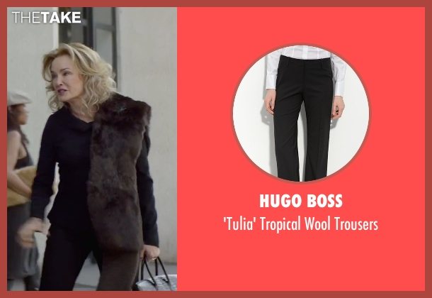 Hugo Boss black trousers from The Gambler seen with Jessica Lange (Roberta)