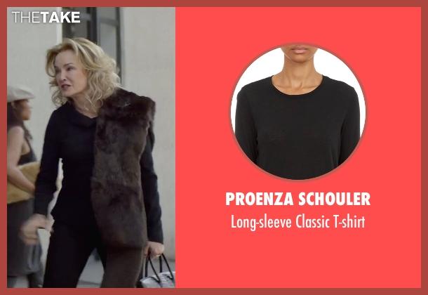 Proenza Schouler black t-shirt from The Gambler seen with Jessica Lange (Roberta)