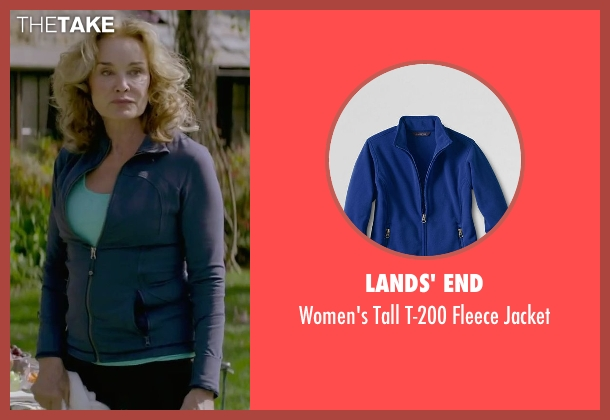Lands' End blue jacket from The Gambler seen with Jessica Lange (Roberta)
