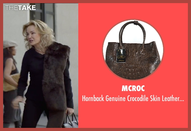 MCROC brown handbag from The Gambler seen with Jessica Lange (Roberta)