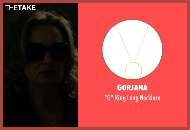 Gorjana gold necklace from The Gambler seen with Jessica Lange (Roberta)
