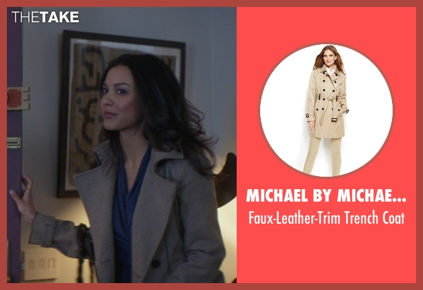 Michael By Michael Kors beige coat from That Awkward Moment seen with Jessica Lucas  (Vera)