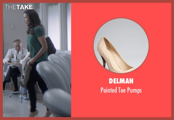 Delman beige pumps from That Awkward Moment seen with Jessica Lucas  (Vera)