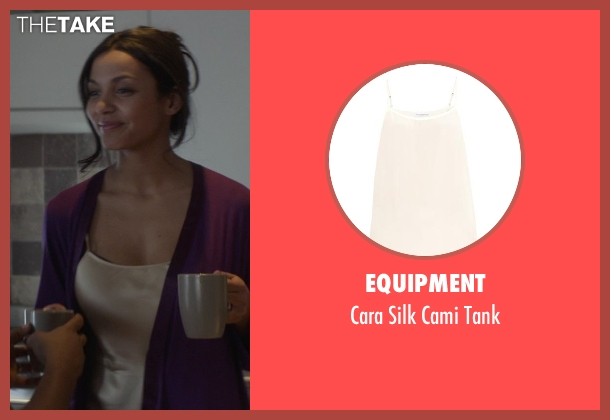 Equipment beige tank from That Awkward Moment seen with Jessica Lucas  (Vera)