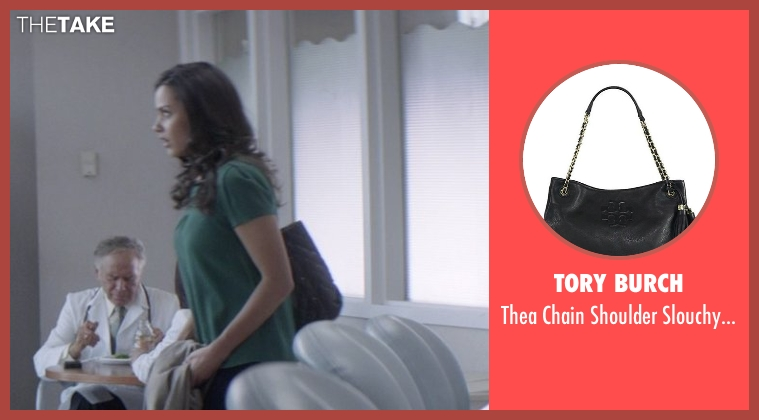 Tory Burch black bag from That Awkward Moment seen with Jessica Lucas  (Vera)
