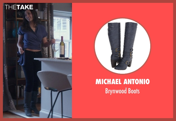 Michael Antonio blue boots from That Awkward Moment seen with Jessica Lucas  (Vera)