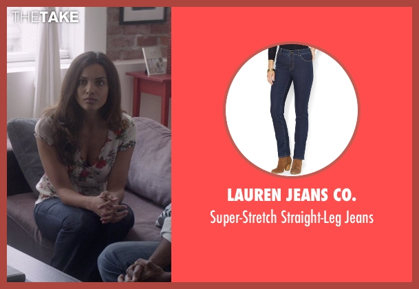 Lauren Jeans Co. blue jeans from That Awkward Moment seen with Jessica Lucas  (Vera)