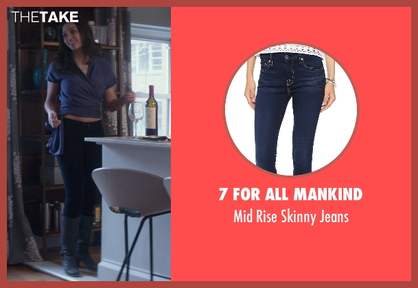 7 For All Mankind blue jeans from That Awkward Moment seen with Jessica Lucas  (Vera)