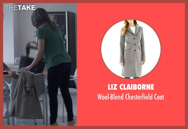 Liz Claiborne gray coat from That Awkward Moment seen with Jessica Lucas  (Vera)
