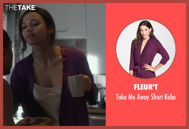Fleur't purple robe from That Awkward Moment seen with Jessica Lucas  (Vera)