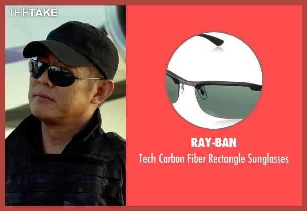 Ray-Ban black sunglasses from The Expendables 3 seen with Jet Li (Yin Yang)