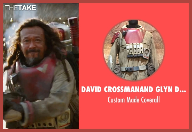 David Crossman	and Glyn Dillon (Costume Designers) beige coverall from Rogue One: A Star Wars Story seen with Jiang Wen (Baze Malbus)