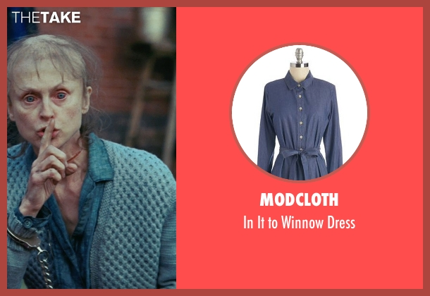 ModCloth blue dress from Shutter Island seen with Jill Larson (Manacled Woman)
