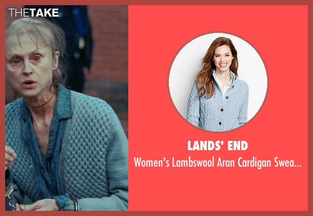 Lands' End blue sweater from Shutter Island seen with Jill Larson (Manacled Woman)