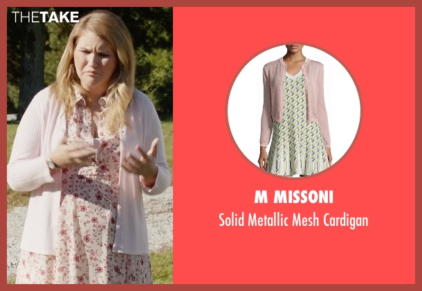 M Missoni pink cardigan from Fist Fight seen with Jillian Bell (Unknown Character)