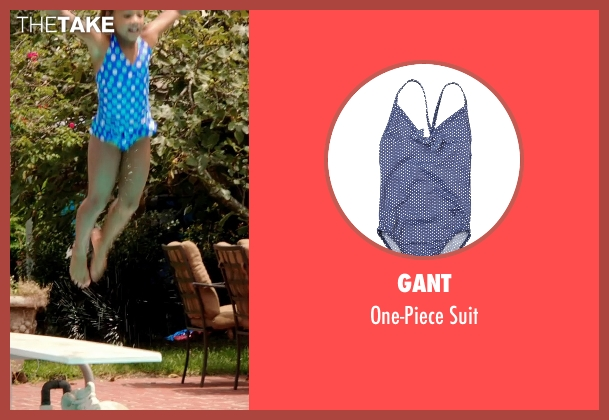 Gant blue suit from Black or White seen with Jillian Estell (Eloise Anderson)
