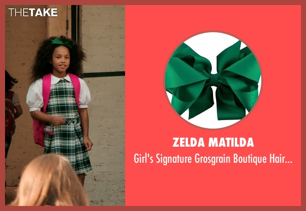 Zelda Matilda green bow from Black or White seen with Jillian Estell (Eloise Anderson)