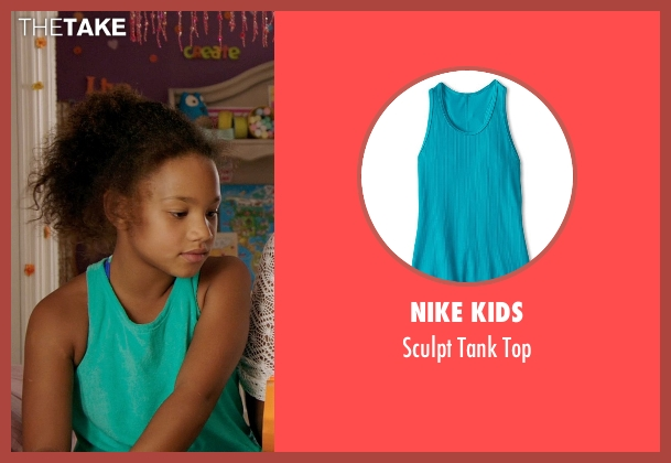 Nike Kids green top from Black or White seen with Jillian Estell (Eloise Anderson)