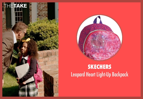 Skechers pink backpack from Black or White seen with Jillian Estell (Eloise Anderson)