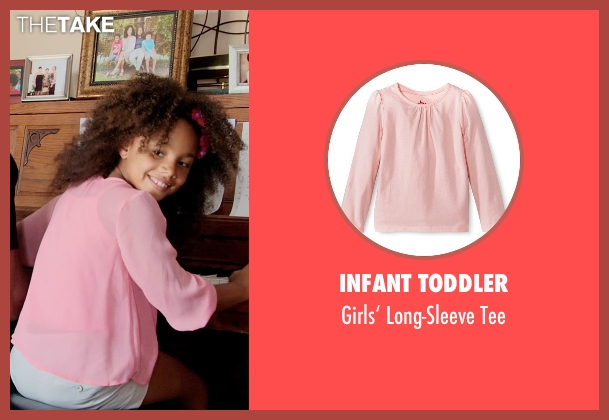 Infant Toddler pink tee from Black or White seen with Jillian Estell (Eloise Anderson)
