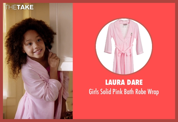 Laura Dare pink wrap from Black or White seen with Jillian Estell (Eloise Anderson)
