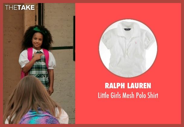 Ralph Lauren white shirt from Black or White seen with Jillian Estell (Eloise Anderson)