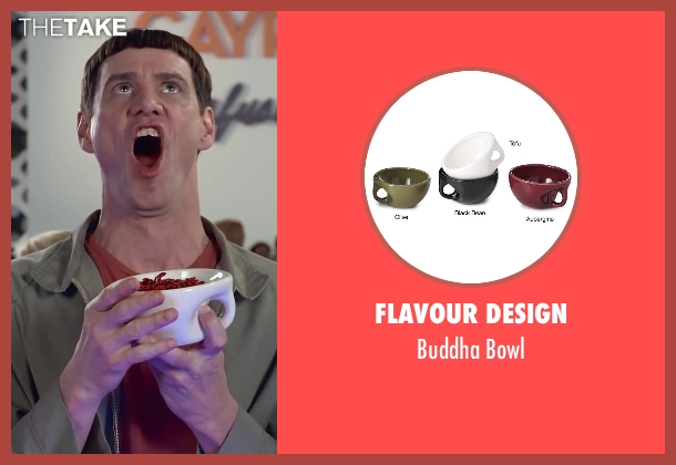 Flavour Design bowl from Dumb and Dumber To seen with Jim Carrey (Lloyd Christmas)
