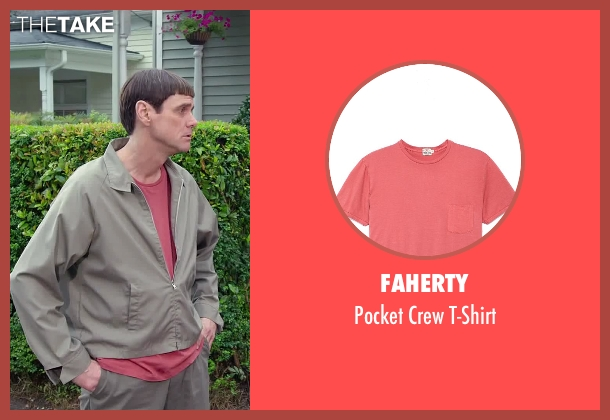 Faherty red t-shirt from Dumb and Dumber To seen with Jim Carrey (Lloyd Christmas)