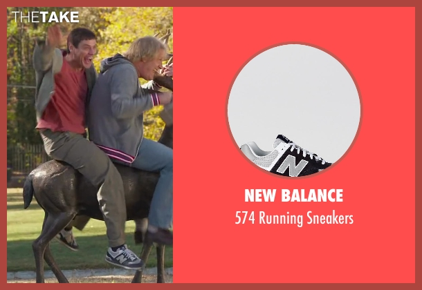 New Balance white sneakers from Dumb and Dumber To seen with Jim Carrey (Lloyd Christmas)