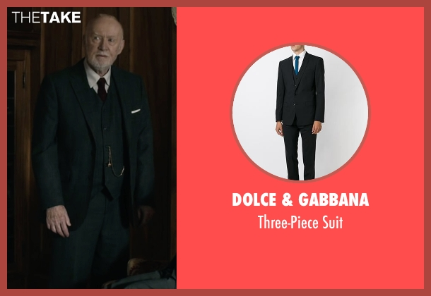 Dolce & Gabbana black suit from The Boy seen with Jim Norton (Mr. Heelshire)