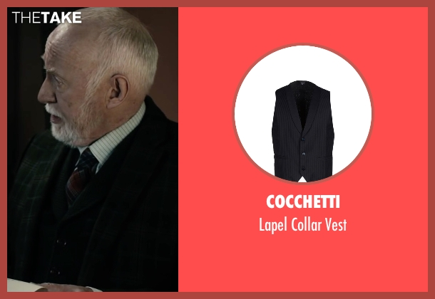 Cocchetti black vest from The Boy seen with Jim Norton (Mr. Heelshire)
