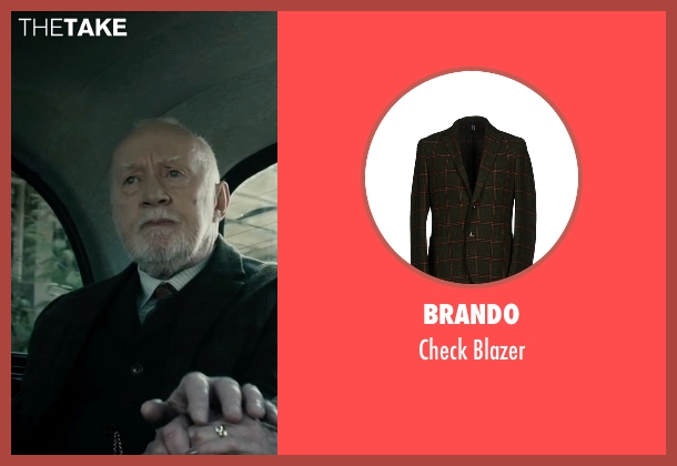 Brando green blazer from The Boy seen with Jim Norton (Mr. Heelshire)