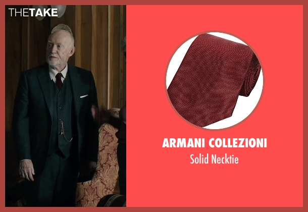 Armani Collezioni red necktie from The Boy seen with Jim Norton (Mr. Heelshire)