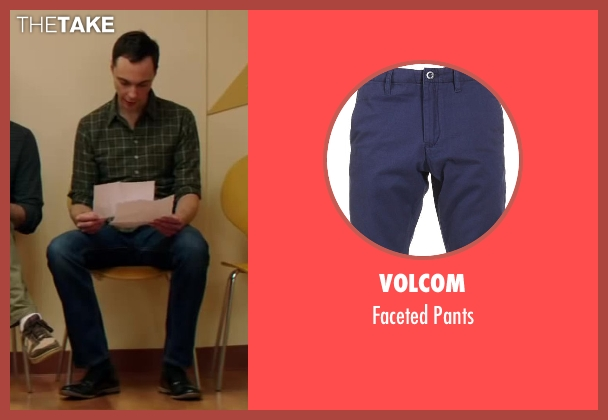Volcom blue pants from Wish I Was Here seen with Jim Parsons
