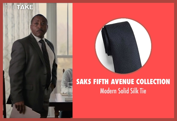 Saks Fifth Avenue Collection black tie from Paper Towns seen with Jim R. Coleman (Detective Warren)
