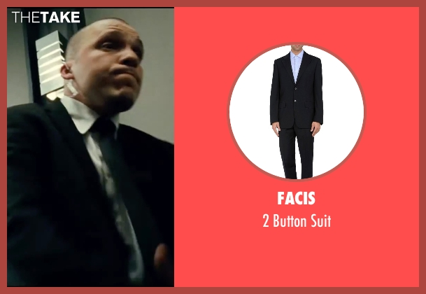 Facis black suit from Taken 3 seen with Jimmy Gonzales (Cop)