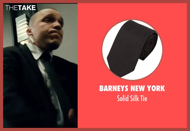 Barneys New York black tie from Taken 3 seen with Jimmy Gonzales (Cop)