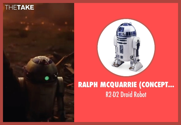 Ralph McQuarrie (Concept Artist) robot from Star Wars: The Last Jedi seen with Jimmy Vee (R2-D2)
