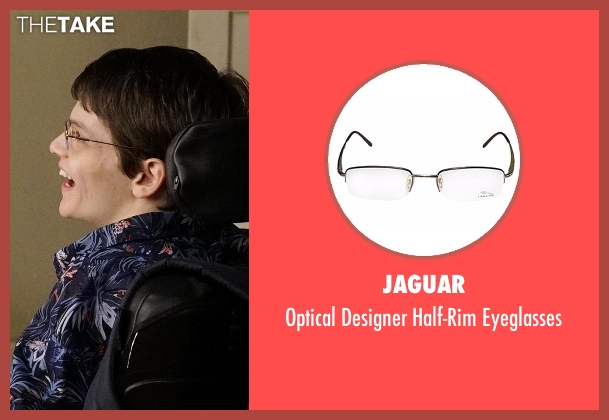 Jaguar black eyeglasses from Speechless seen with JJ Dimeo (Micah Fowler)