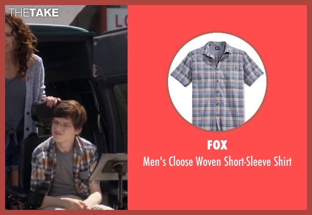Fox gray shirt from Speechless seen with JJ Dimeo (Micah Fowler)